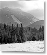 Mount Colden During Winter From Marcy Dam In The Adirondack Mountains Metal Print by Brendan Reals