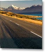 Mount Cook Road Metal Print