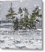 Mount Desert Narrows Snowscape Metal Print