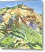 Mount Diablo From Curry Valley Ridge Metal Print