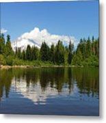 Mount Hood By Mirror Lake Metal Print