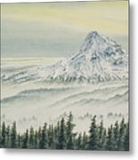 Mount Hood Evening Metal Print
