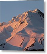 Mount Hood Sunset Glow Metal Print