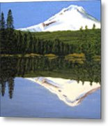 Mount Hood-trillium Lake Metal Print