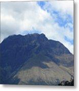 Mount Imbabura And Cloudy Sky Metal Print
