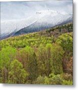 Mount Mansfield Spring Snow Metal Print