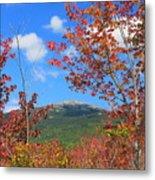 Mount Monadnock Red Maple Foliage Metal Print