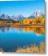 Mount Moran From The Snake River In Autumn Metal Print