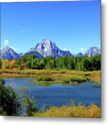 Mount Moran, Grand Tetons National Park, Wyoming  Metal Print