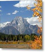 Mount Moran In Autumn Metal Print