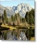 Mount Moran Reflections Metal Print