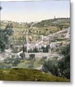 Mount Of Olives, C1900 Metal Print