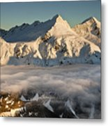 Mount Pollux And Mount Castor At Dawn Metal Print