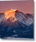 Mount Princeton Moonset At Sunrise Metal Print