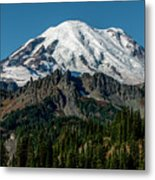 Mount Rainier - Cowilitz Chimneys  Metal Print