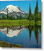 Majestic Reflection - Mount Rainier - 2 Metal Print