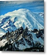 Early Snow - Mount Rainier  Metal Print