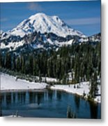 Mount Rainier - Tipsoo Lake Metal Print