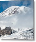 Mount Rainier Behind Clouds 3 Metal Print