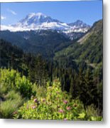 Mount Rainier From Scenic Viewpoint Metal Print