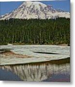 Mount Rainier Reflection Lake Metal Print