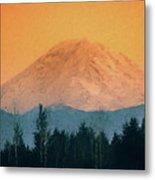 Mount Rainier, Sunset Metal Print
