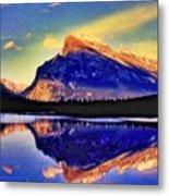 Mount Rundle Reflection Metal Print