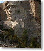 Mount Rushmoore Detail - Abraham Lincoln  Metal Print