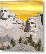 Mount Rushmore 11 Digital Art Metal Print
