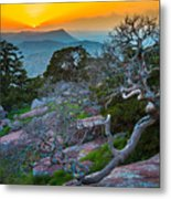 Mount Scott Sunset Metal Print