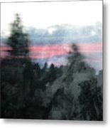 Mount Shasta Forest Sunrise Metal Print