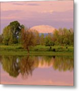 Mount St Helens Reflection During Sunset Metal Print