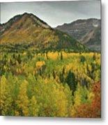Mount Timpanogos Fall Colors Metal Print