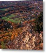 Mount Tom Ridge Autumn View Metal Print