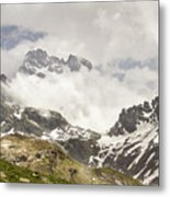 Mount Viso In The Clouds Metal Print