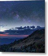 Mount Washington Summit Milky Way Panorama Metal Print