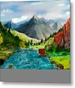 Mountaian Scene Metal Print