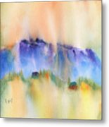 Mountain And Hill Abstract Metal Print
