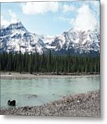 Mountain And Stone Metal Print