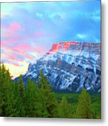 Mountain At Dawn Metal Print