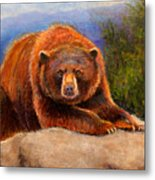 Mountain Bear Metal Print