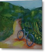 Mountain Biking In The Santa Monica Mountains Metal Print