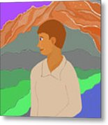 Mountain Boy Metal Print