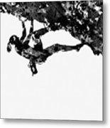 Mountain Climber-black Metal Print