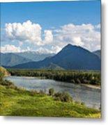 Mountain Filaretka Over Katun River. Altay Metal Print