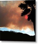 Mountain Fire Sunset Metal Print