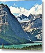 Mountain Glacier And Lake  Metal Print