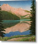 Mountain Glow Metal Print