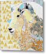 Mountain Goat Collage Metal Print