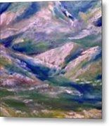 Mountain Gorge Italian Alps Metal Print